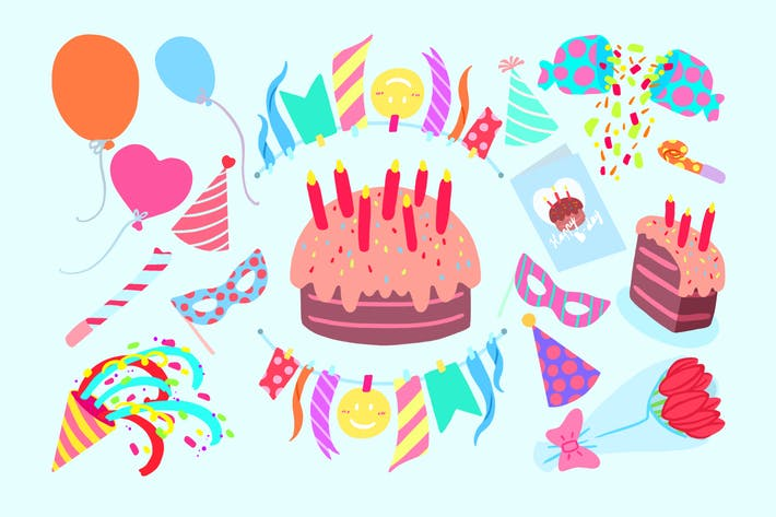 Thumbnail for Happy B-day Clipart