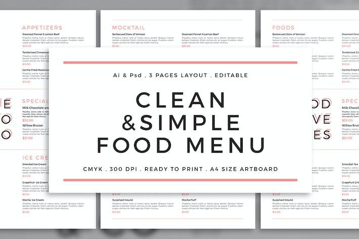 clean simple menu by badastarad on envato elements