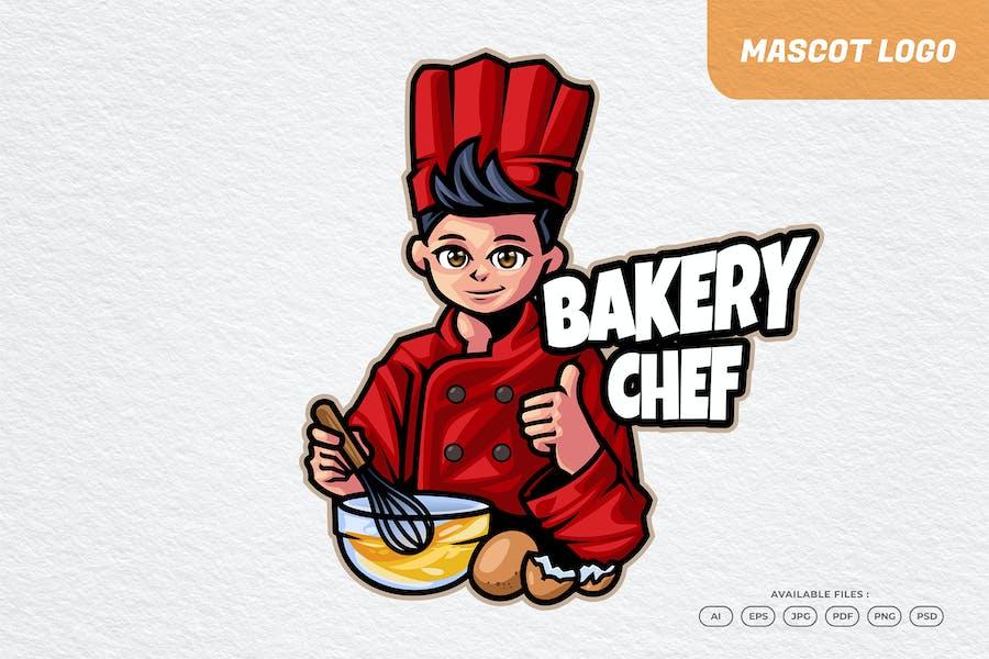 Bakery Chef Restaurant Mascot Logo