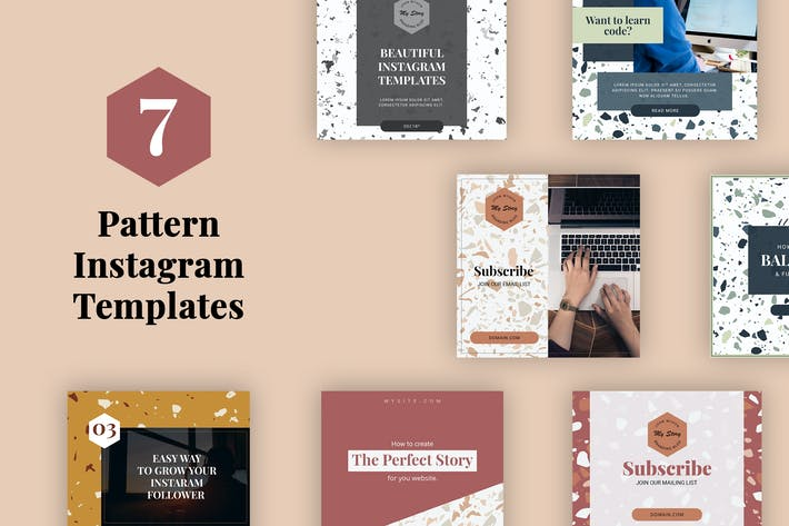 Thumbnail for Pattern Instagram Templates