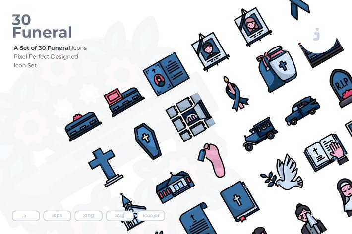 Thumbnail for 30 Funeral Icons