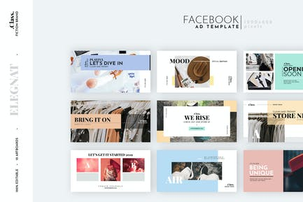 Pastel Fashion Facebook Ad Template