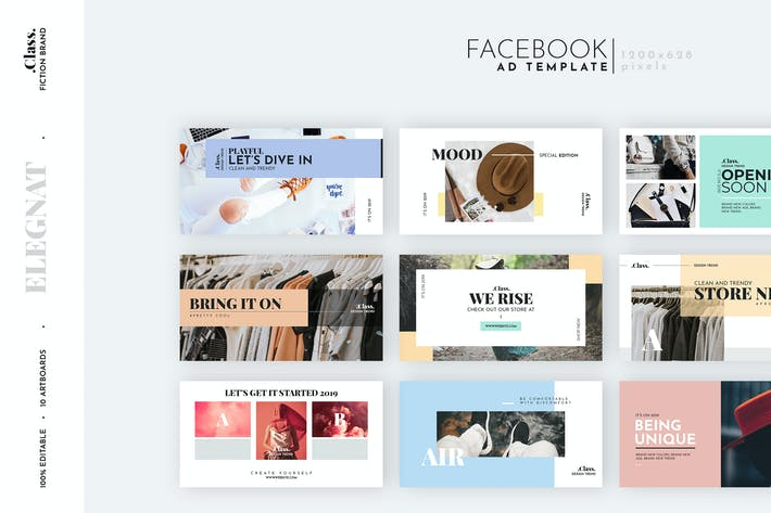 Thumbnail for Pastel Fashion Facebook Ad Template