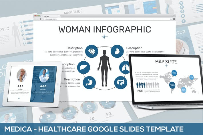 Thumbnail for Medica - Healthcare Google Slides Template