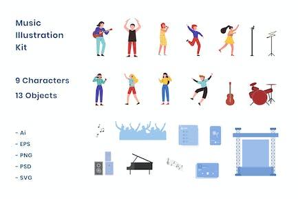 Music - Illustration Kit
