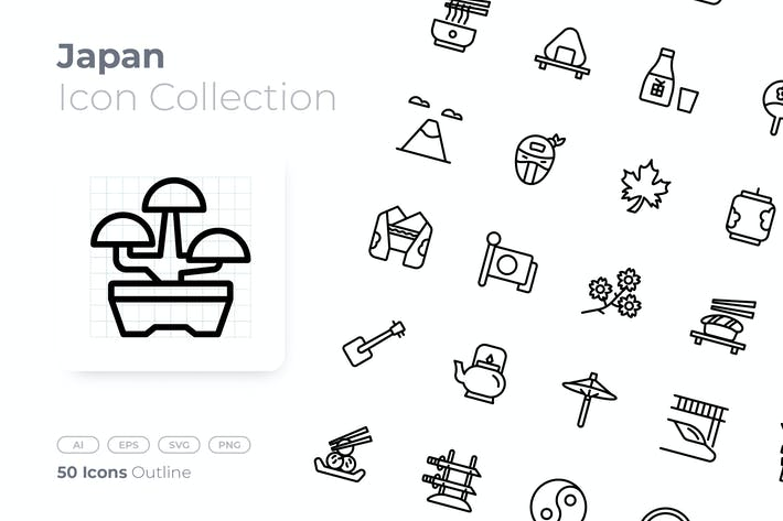 Thumbnail for Japan Outline Icon