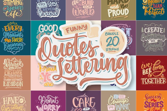 Funny Quotes Lettering Vector