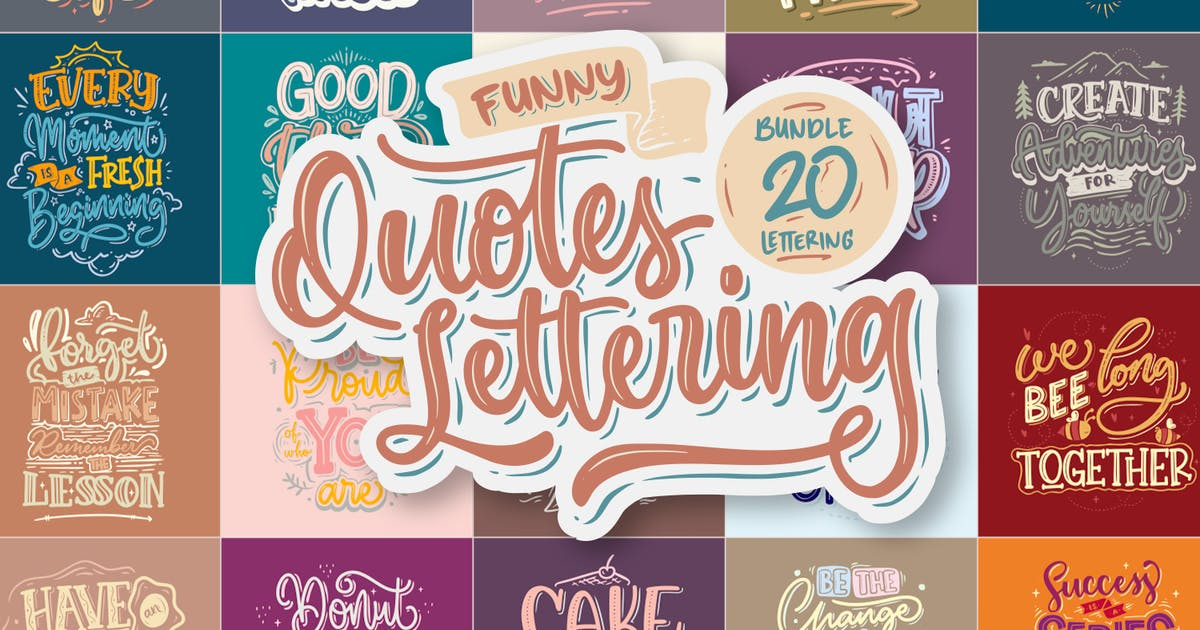 Download Funny Quotes Lettering Vector by nathatype