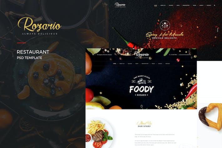 Thumbnail for Rozario - Ресторан PSD Шаблон
