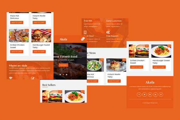 Akala - Mobile Template for Food, Cafe, Restaurant