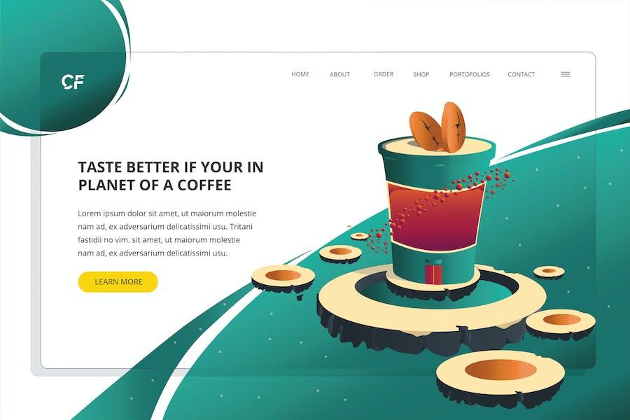 Planet Coffee - Web Header Template