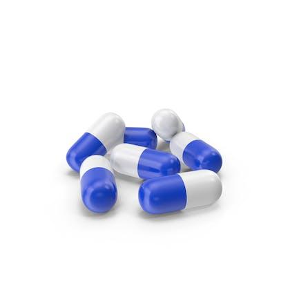 Cápsulas Azul Blanco
