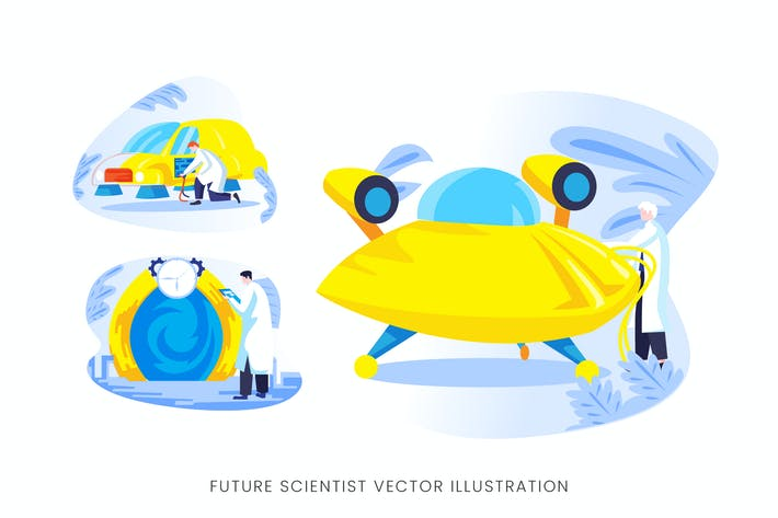 Thumbnail for Future Scientist Vector Character Set