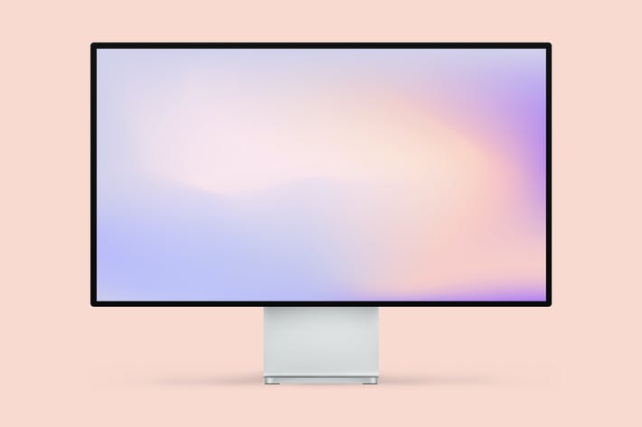 Thumbnail for Apple Pro Display 4K Mockup