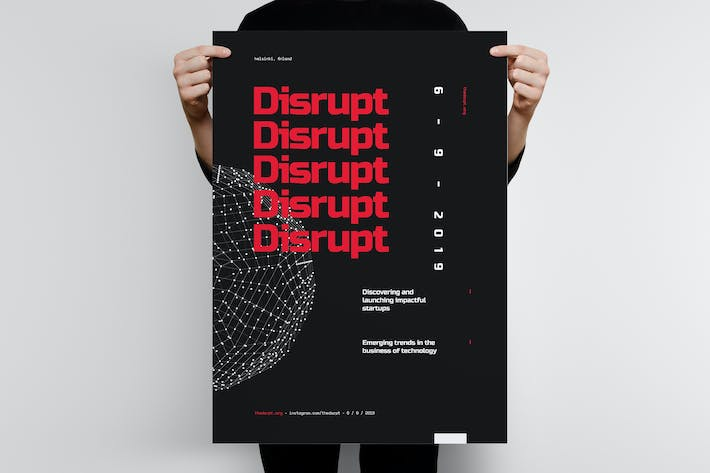 Cover Image For Disrupt 2 Poster Template