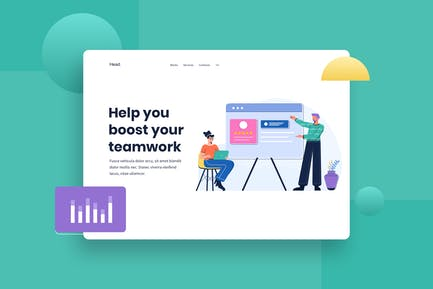 Business Presentation Landingpage Illustration