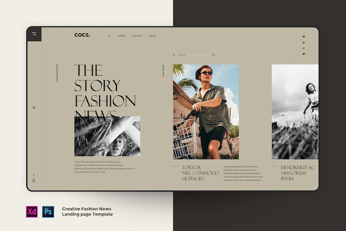 Thumbnail for Cocs - Magazine Fashion landing page template