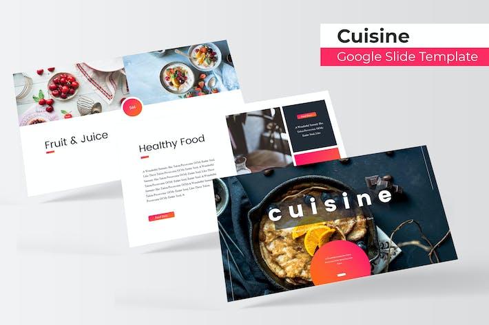 Thumbnail for Cuisine - Google Slide Template
