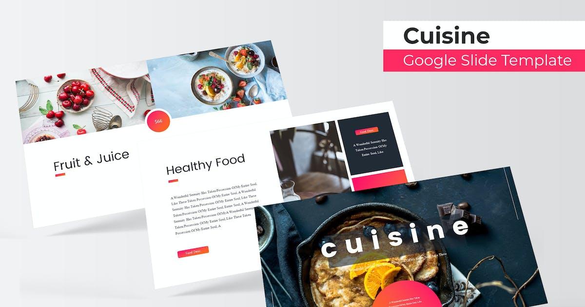 Download Cuisine - Google Slide Template by IanMikraz