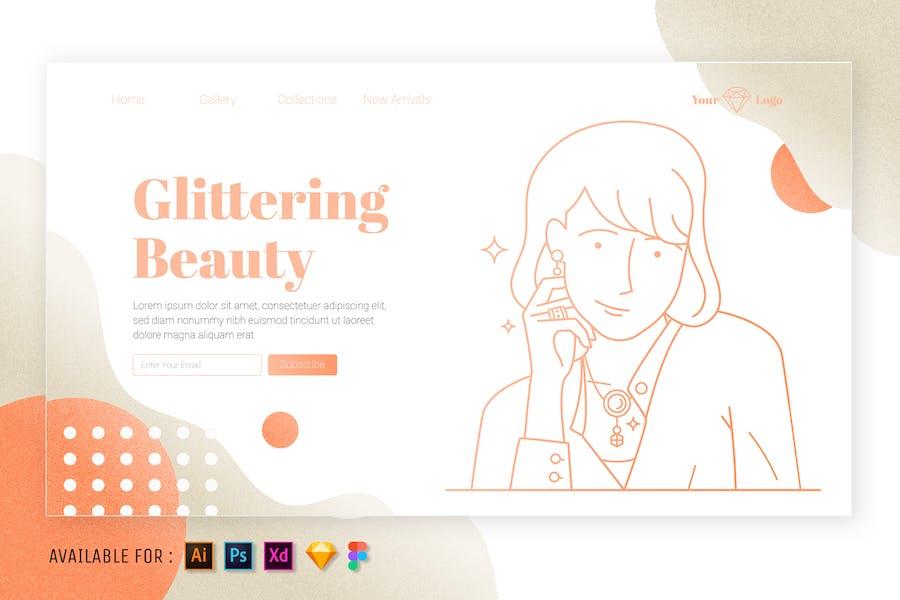 Jewelry - Web Outline Illustration