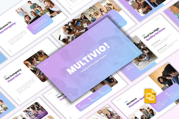 Thumbnail for Multivio - Business Google Slides Template