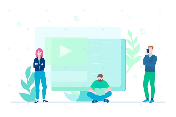 Thumbnail for Creative team - flat design style illustration