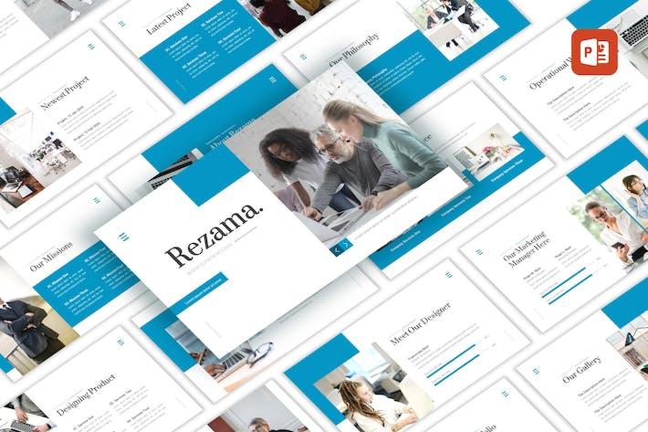 Thumbnail for Rezama - Business-PowerPoint Vorlage