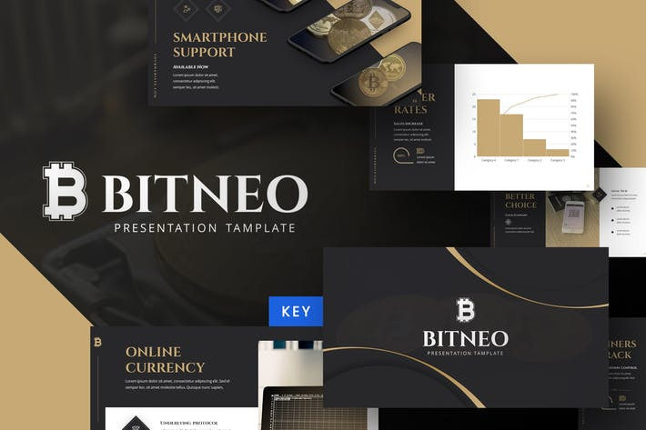 Thumbnail for Bitco - Cryptocurrency Keynote Template