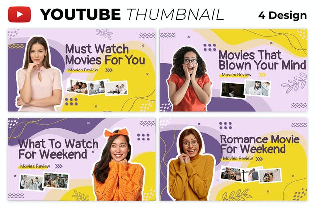 Movie Review Youtube Thumbnail Template