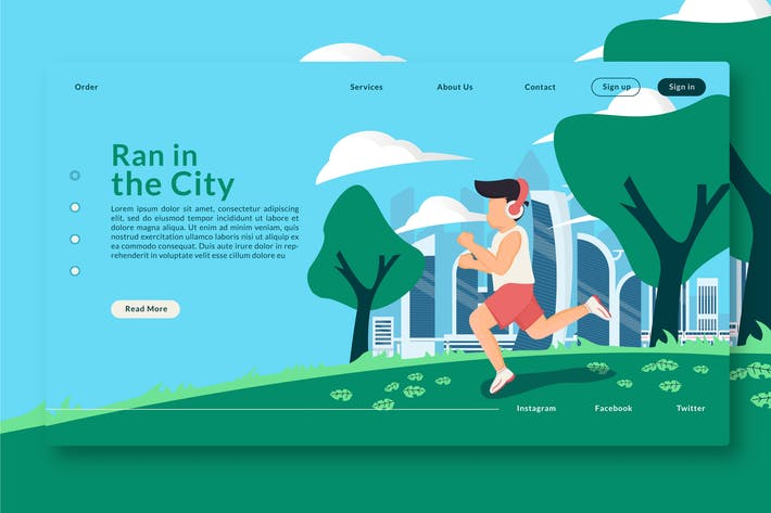 Thumbnail for Ran in the City - Web Header & Landing Page GR