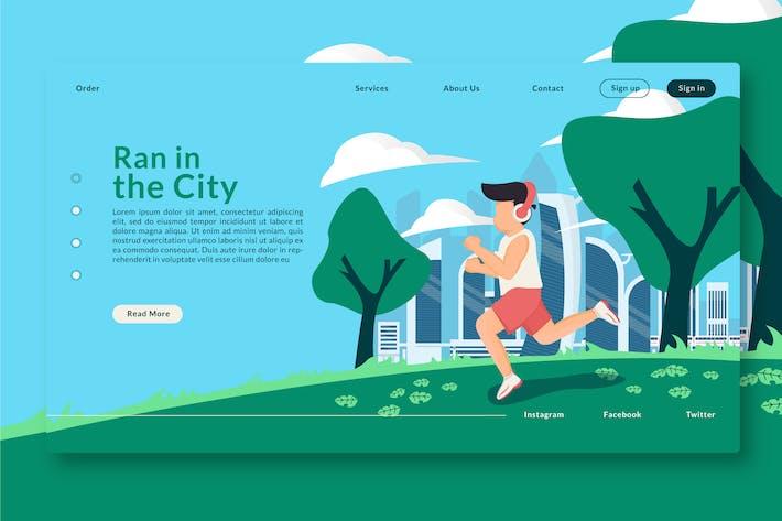 Thumbnail for Ran in the City - En-tête Web & Landing Page GR