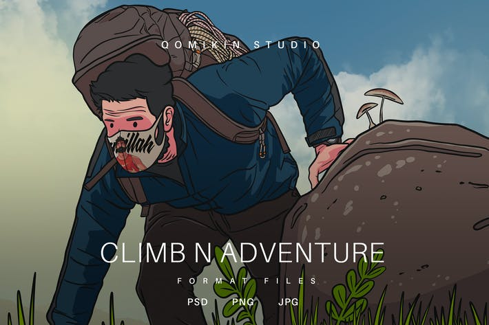 Thumbnail for Climb and Adventure Illustration