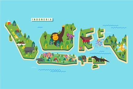 Indonesia Tourism Map