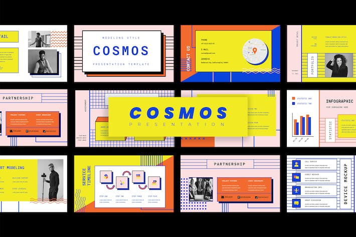 Thumbnail for Cosmos - Classic Style Powerpoint Presentation