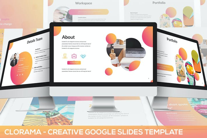 Thumbnail for Clorama - Creative Google Slides Template