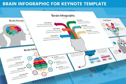 Brain Infographic for Keynote Template