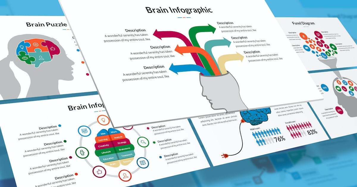 Download Brain Infographic for Keynote by SlideFactory
