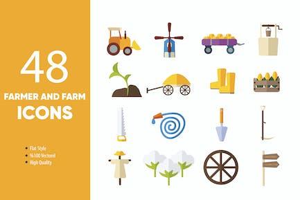 Farmer und FarmIcons Set