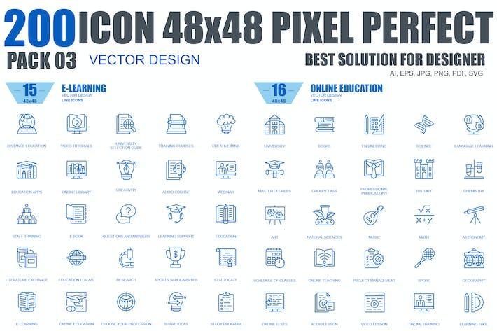 Thumbnail for Line Icons Bundle