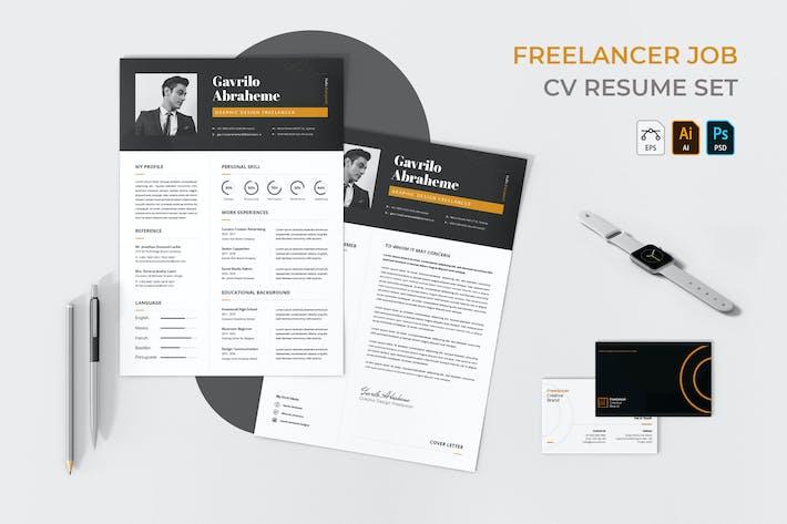 Thumbnail for Freelancer CV Resume Set