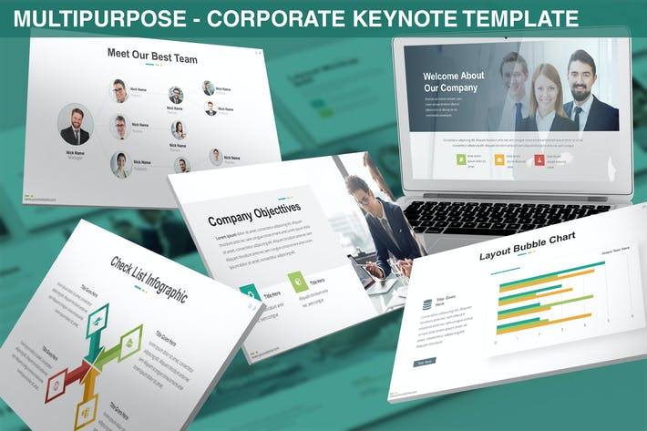 Thumbnail for Multipurpose - Corporate Keynote Template