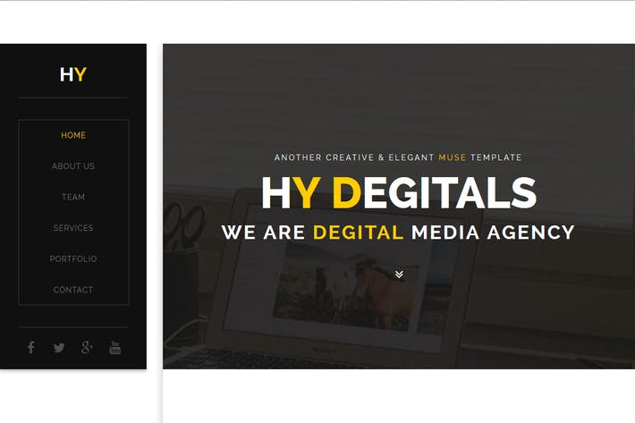 Thumbnail for Hy - Creative Muse Template