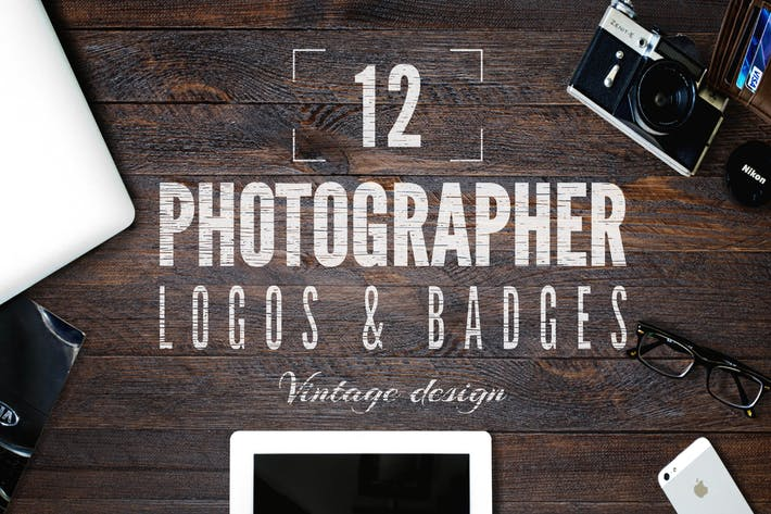 Thumbnail for Retro Photography Logo / Camera Badges Set. Vol 1