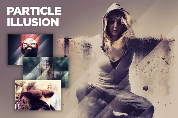 Thumbnail for Particle Illusion CS3+ Photoshop Action