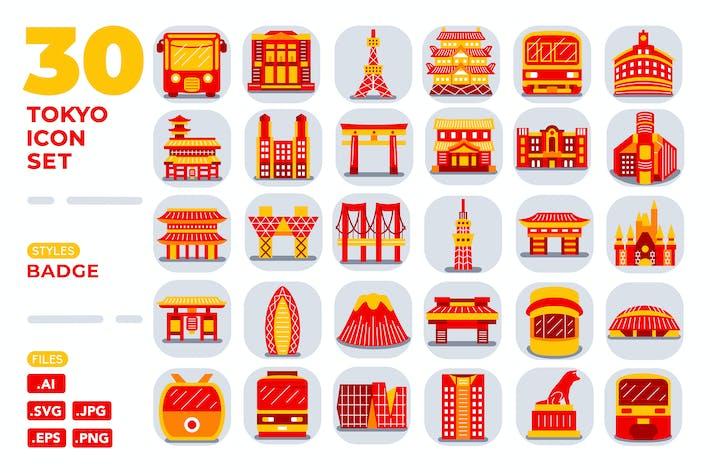 Thumbnail for Tokyo Icon Set (Abzeichen)
