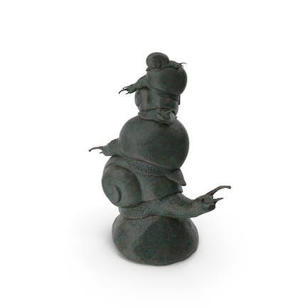 Skulptur-Schnecke