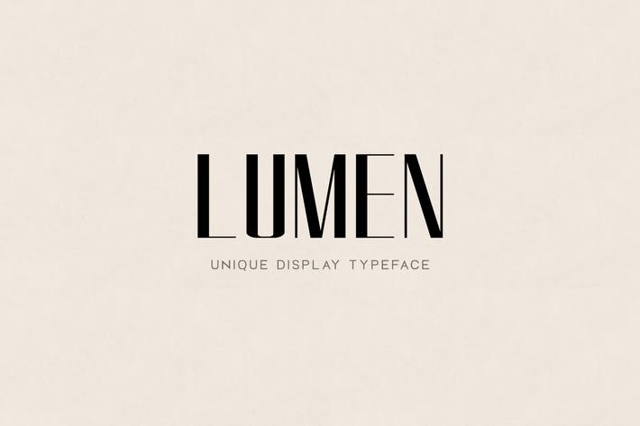 Thumbnail for LUMEN - Unique Display / Headline / Logo Typeface