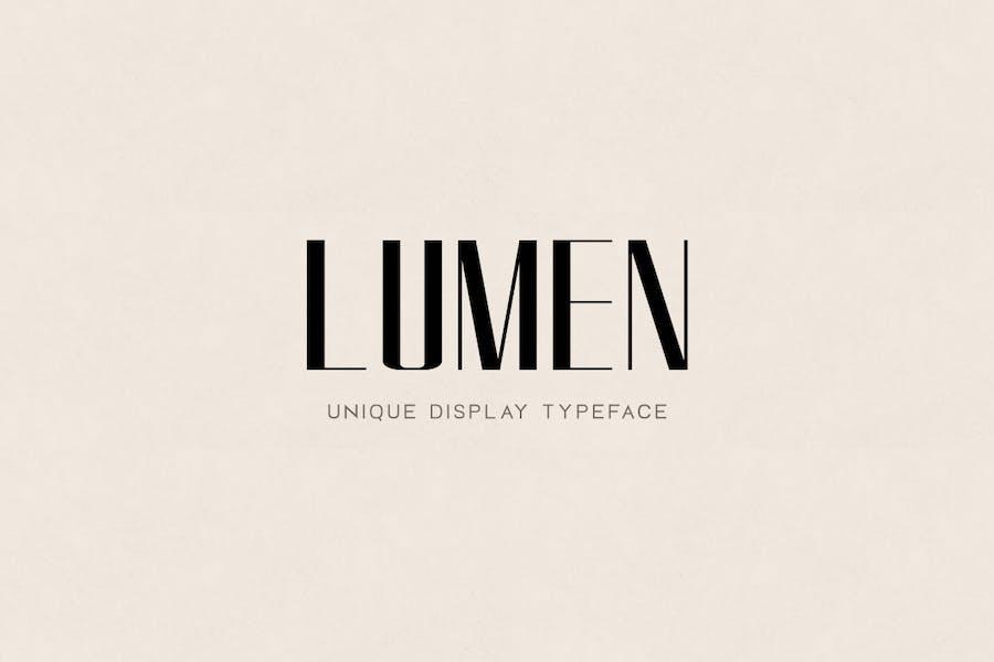LUMEN - Unique Display / Headline / Logo Typeface