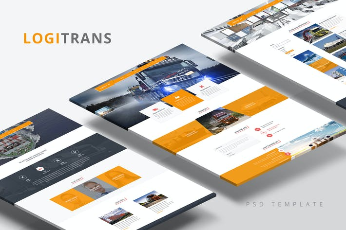 Thumbnail for LogiTrans — Logistics & Transport PSD Template