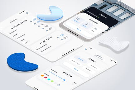 Smart Home Lighting Mobile UI - FD